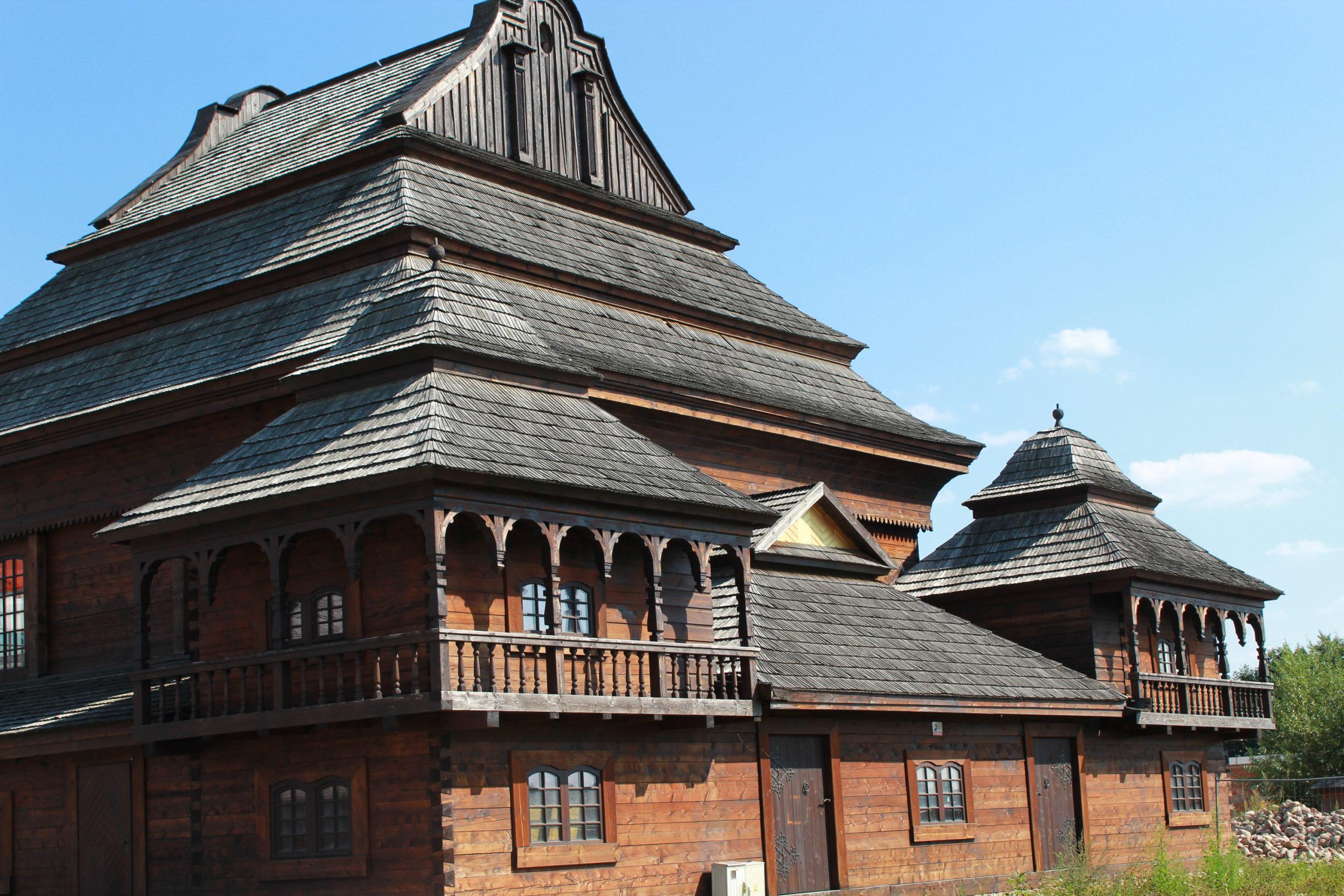 drewniany budynek