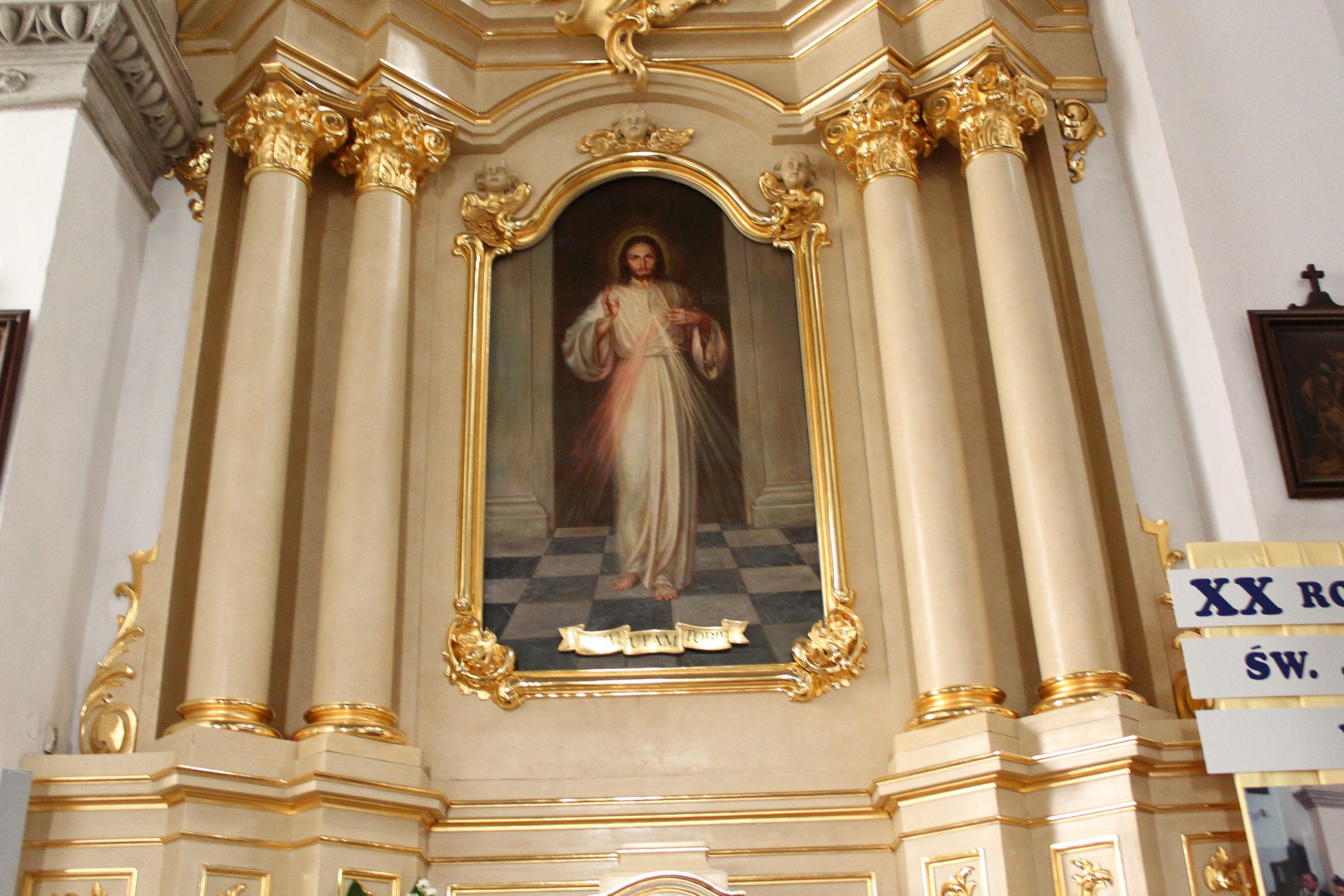 Ołtarz z obrazem Jezusa Miłosiernego