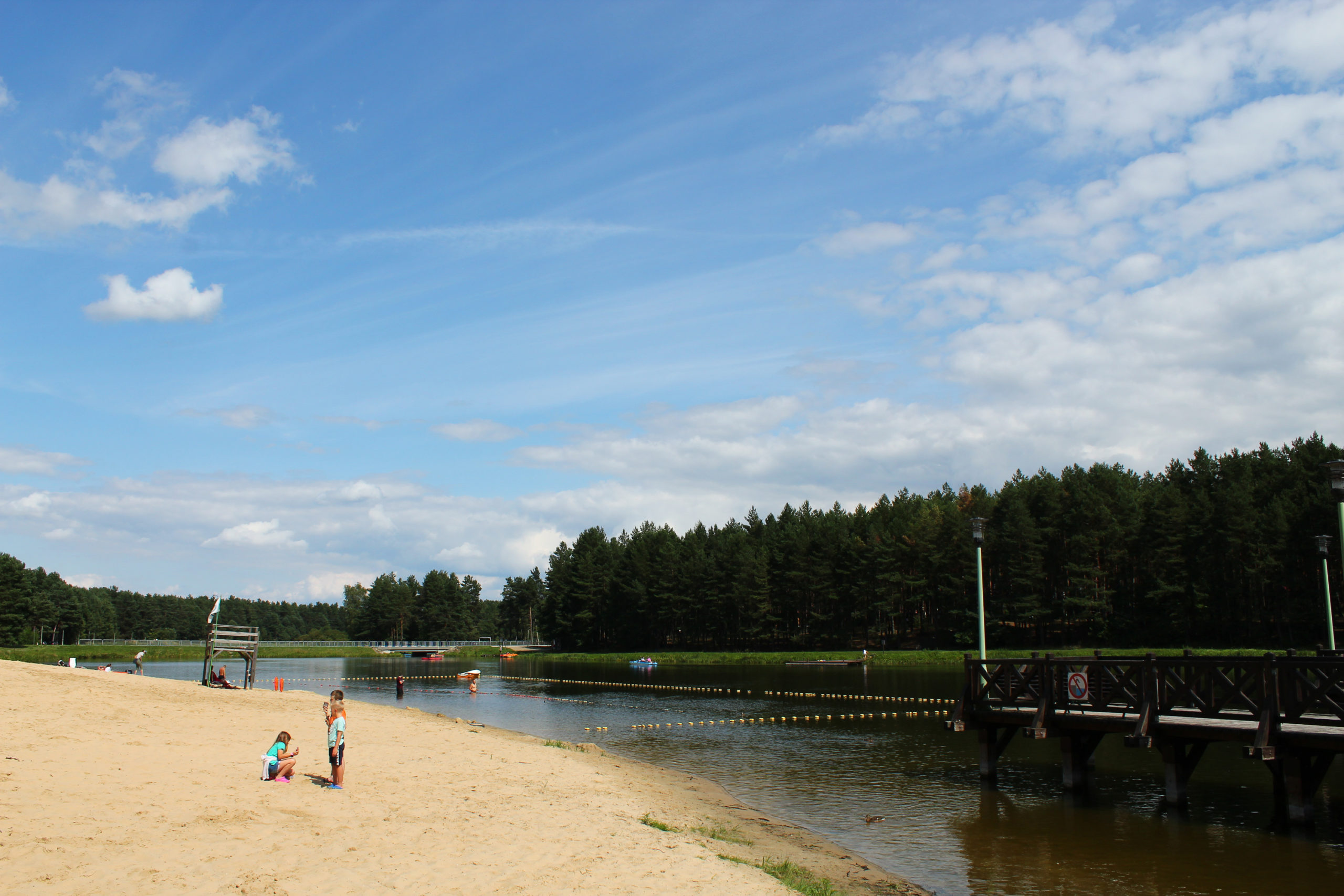 Widok na plażę i Kąpielisko