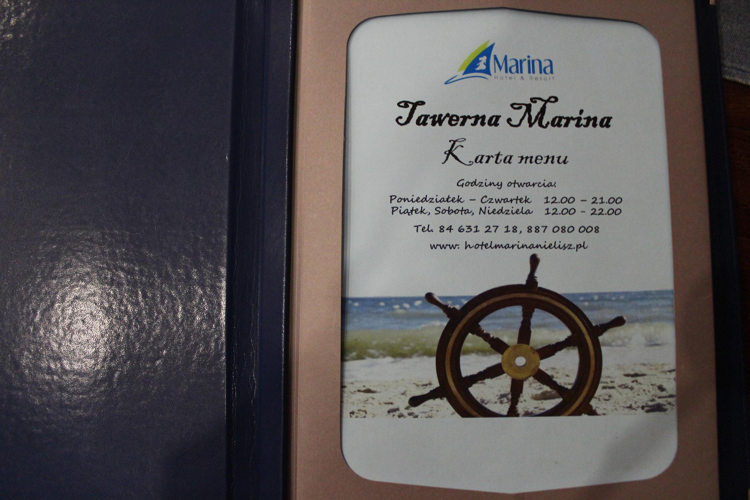 Tawerna Marina karta Menu