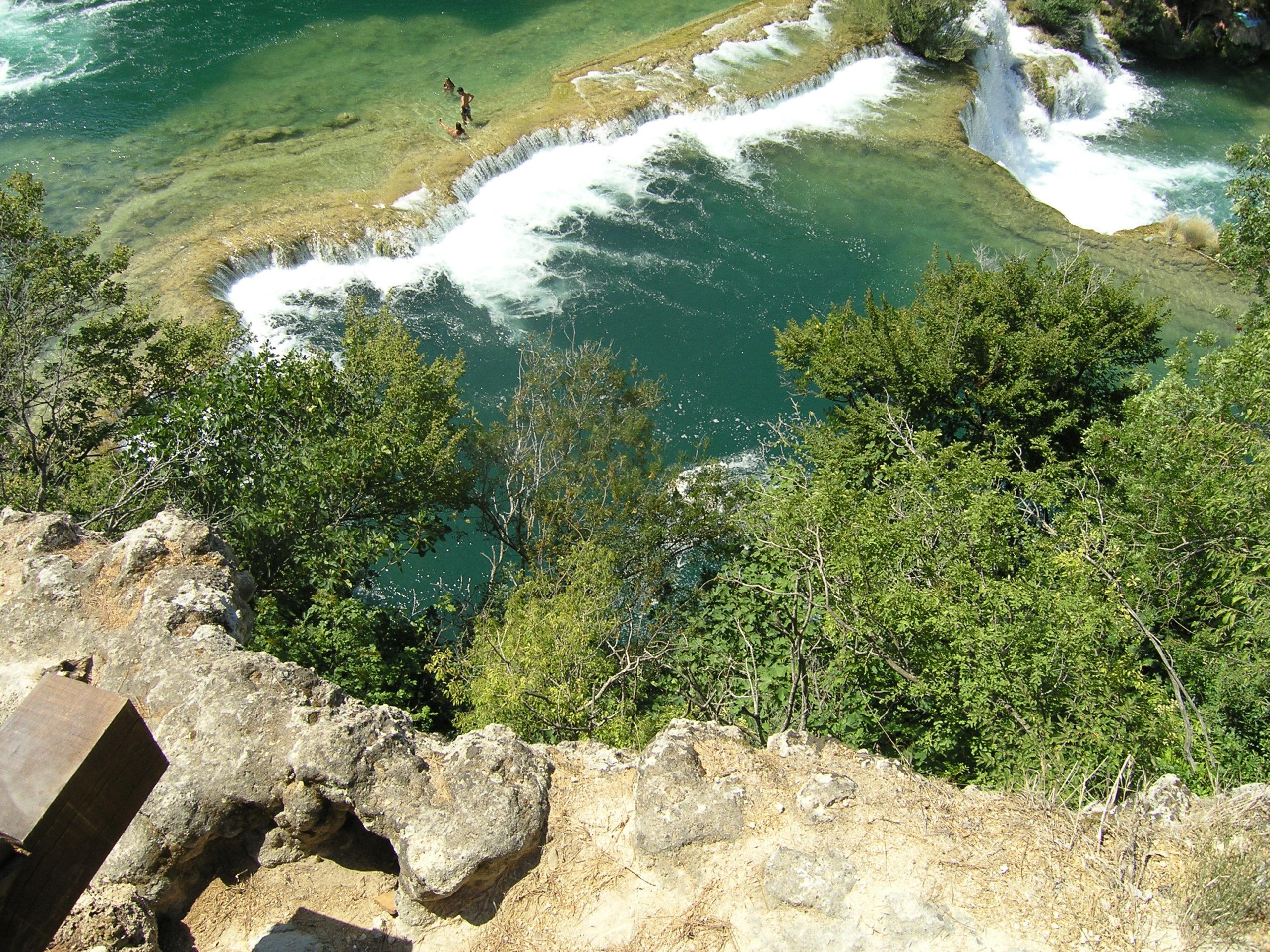 Widok na Urwisko i wodę