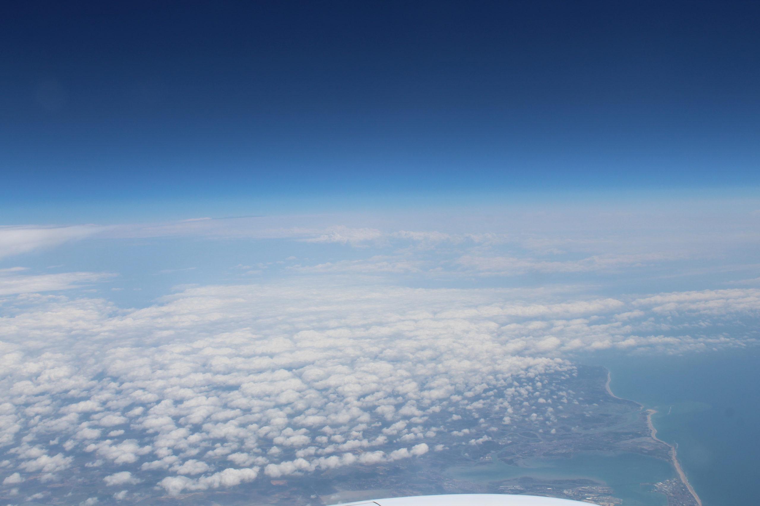 Chmury z samolotu