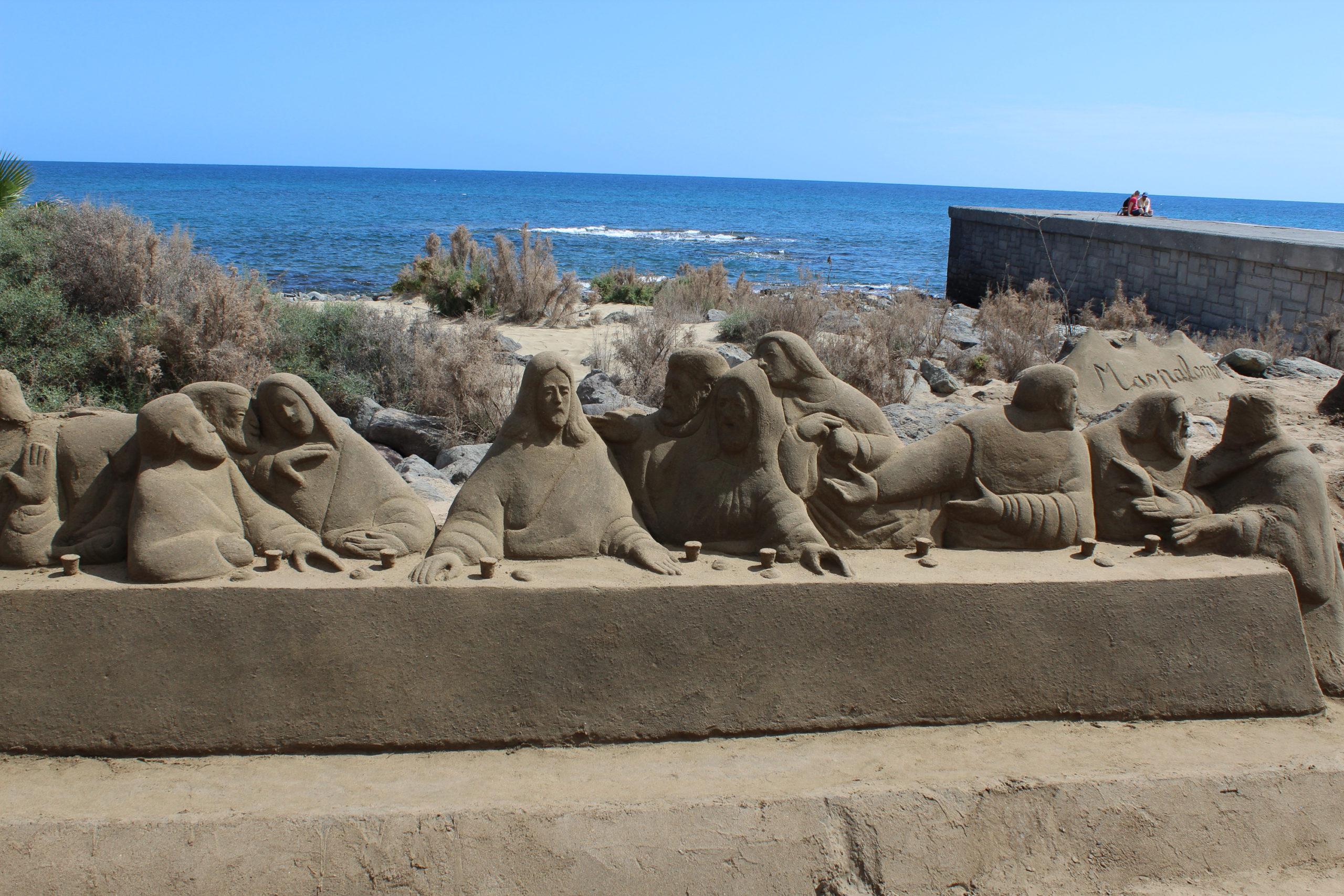 Ostatnia wieczerza rzeźby z piasku