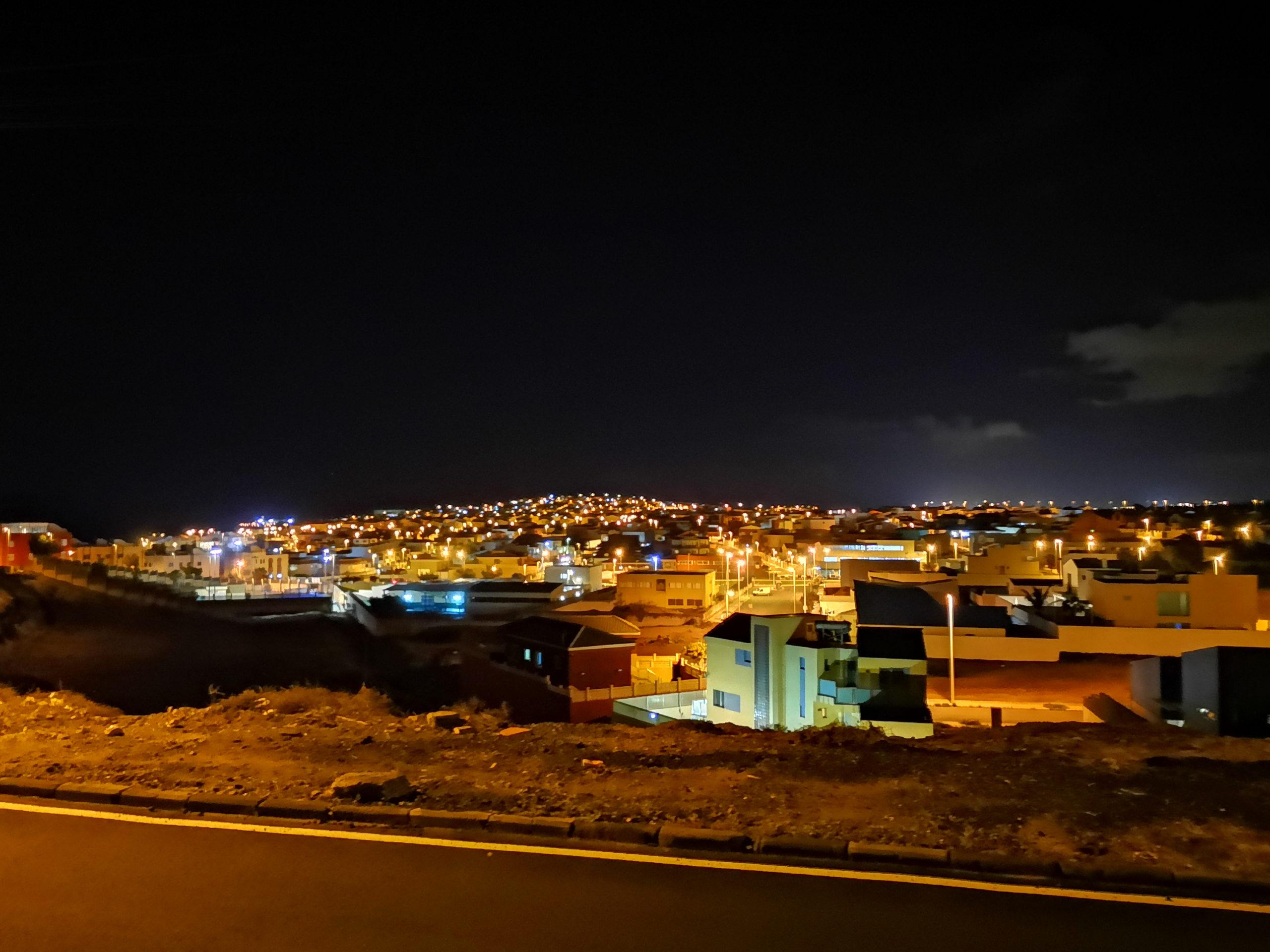 Widok na miasto nocą