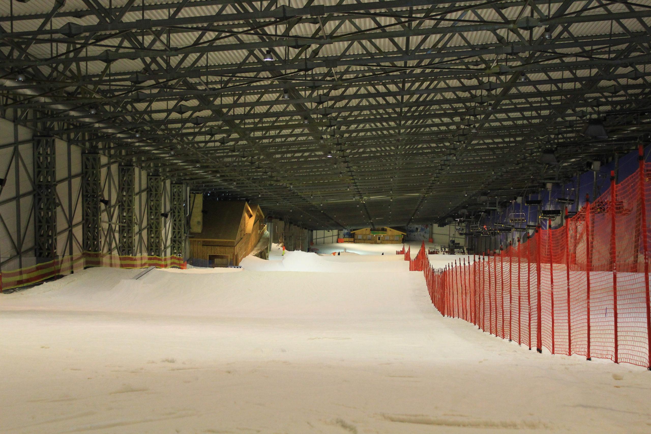 Kryty Stok narciarski z góry