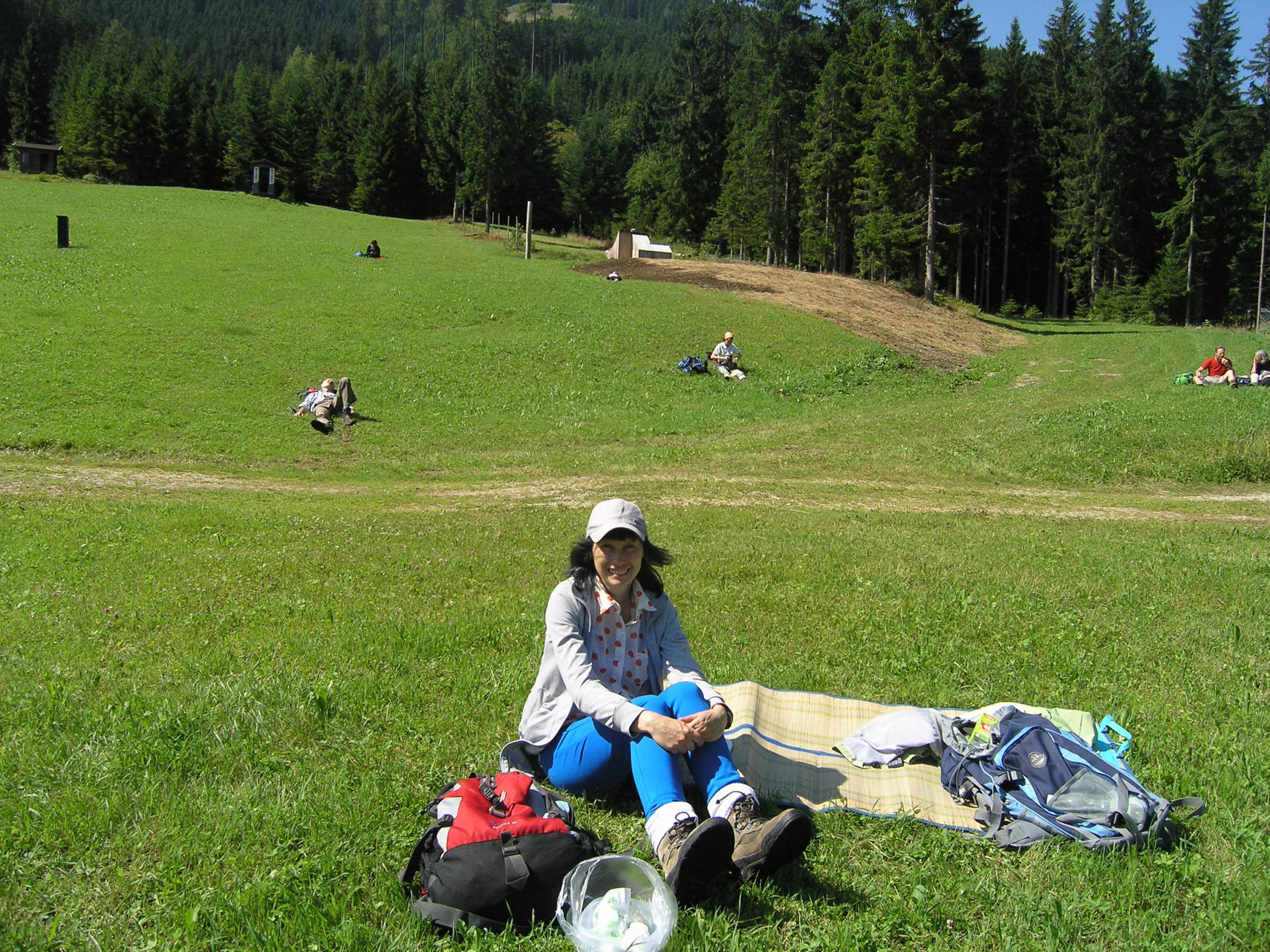 viola odpoczywa w górach