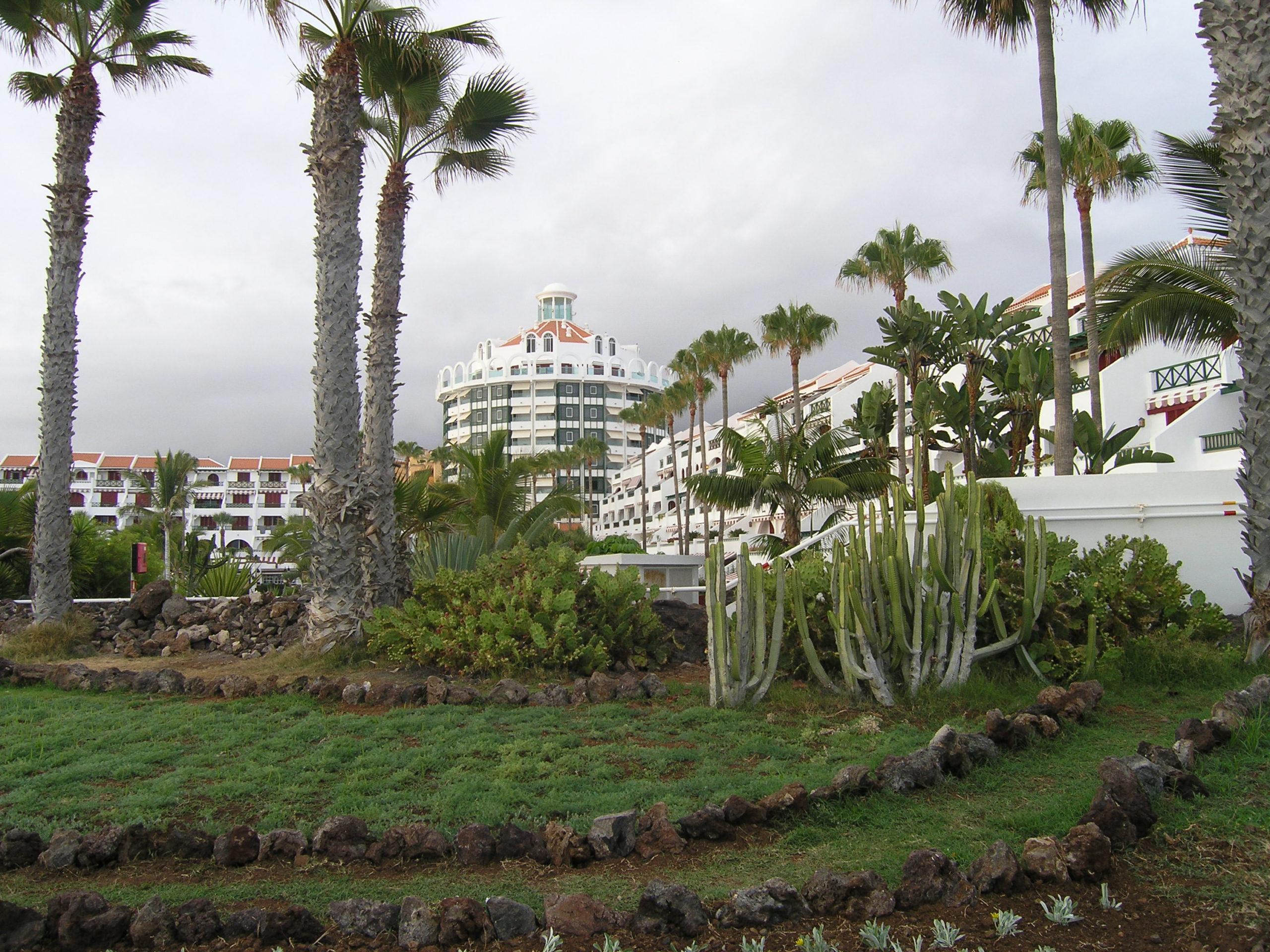 widok na białe budynki
