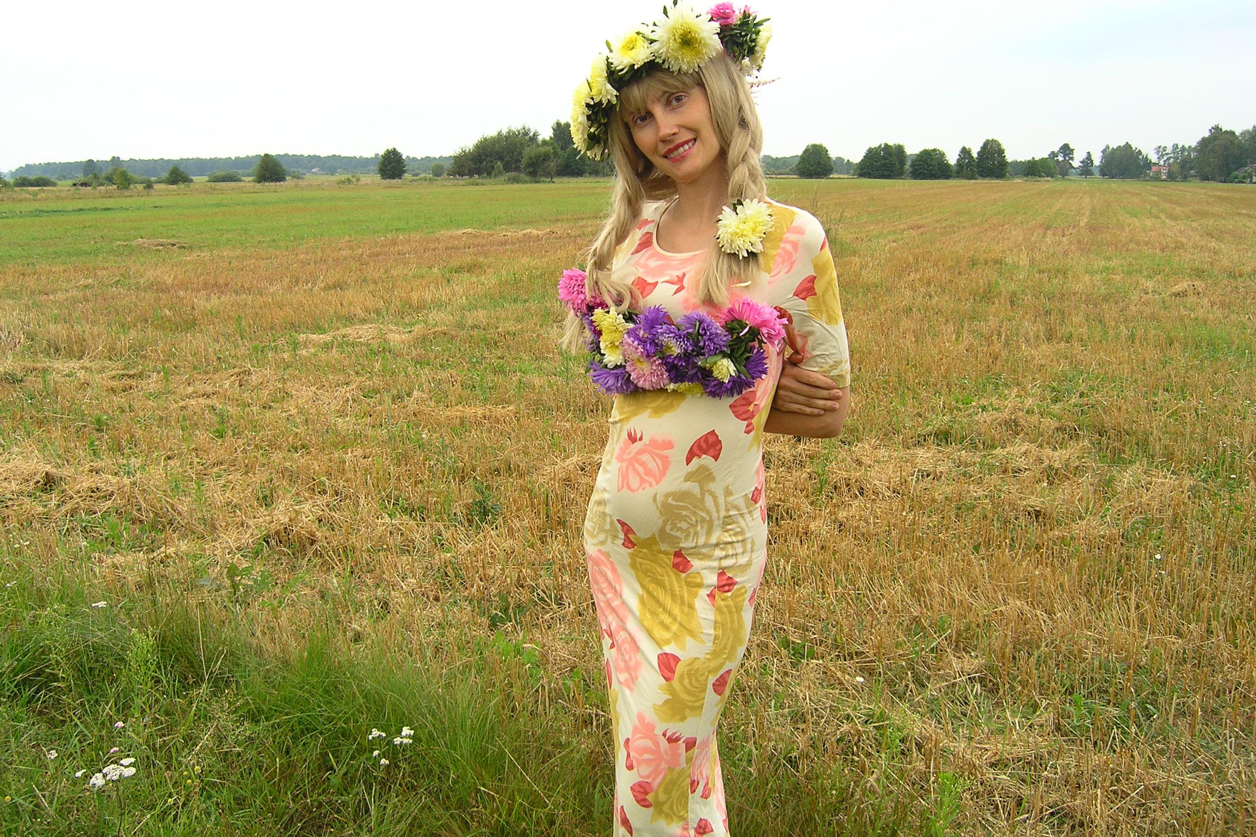 Violetta Wróblewska w wianku