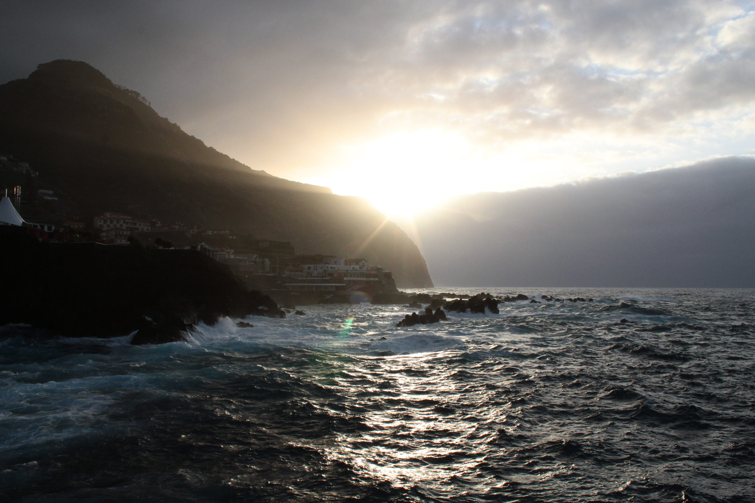 madera widok na ocean i słońce