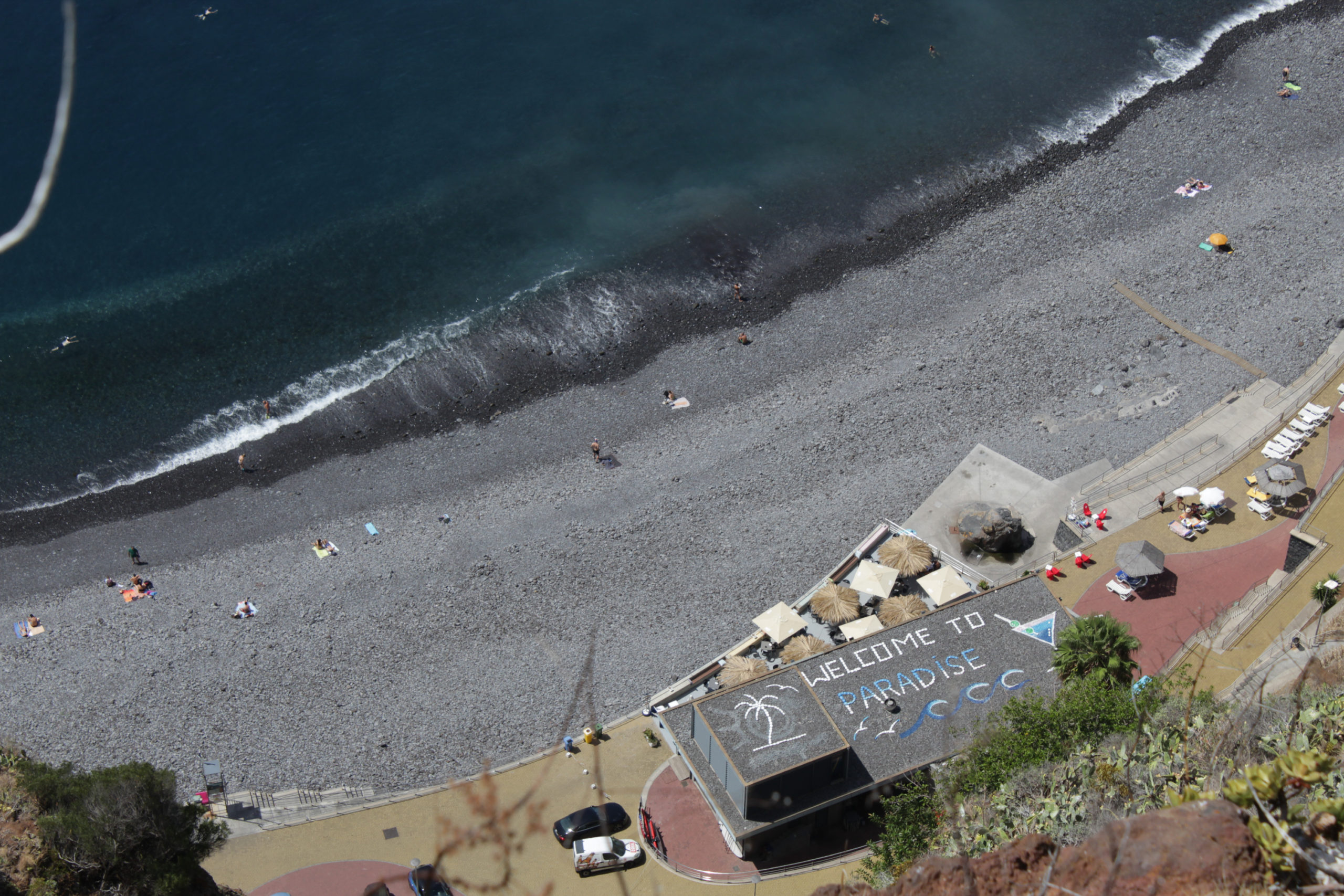 madera widok na plażę z góry