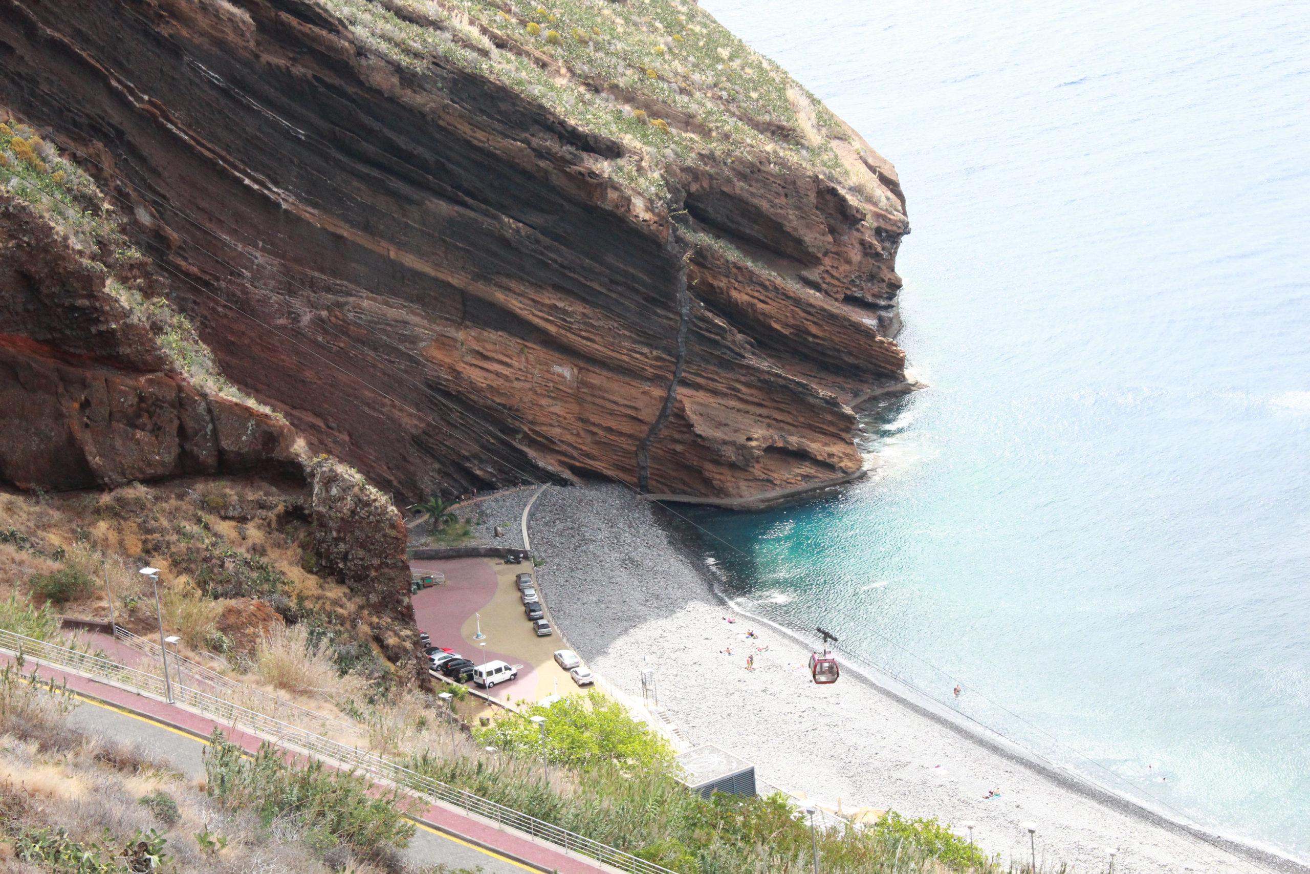 madera widok na plażę i klif