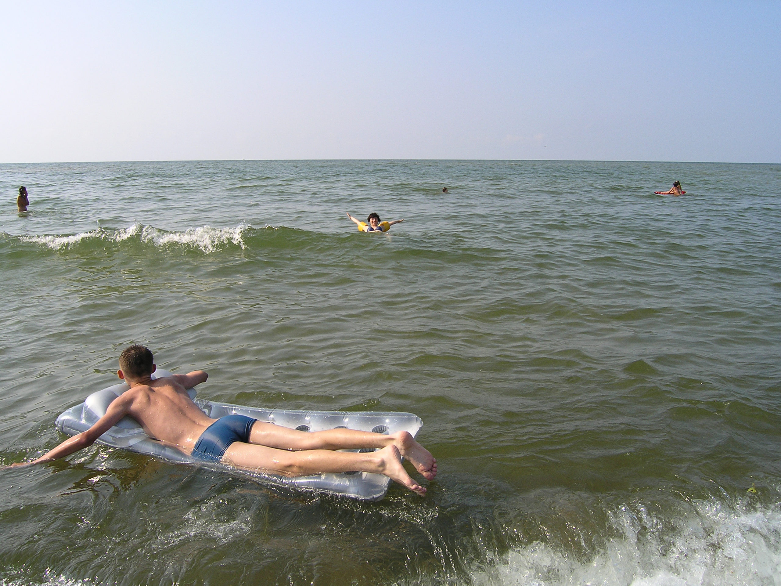 Łeba zabawa w morzu