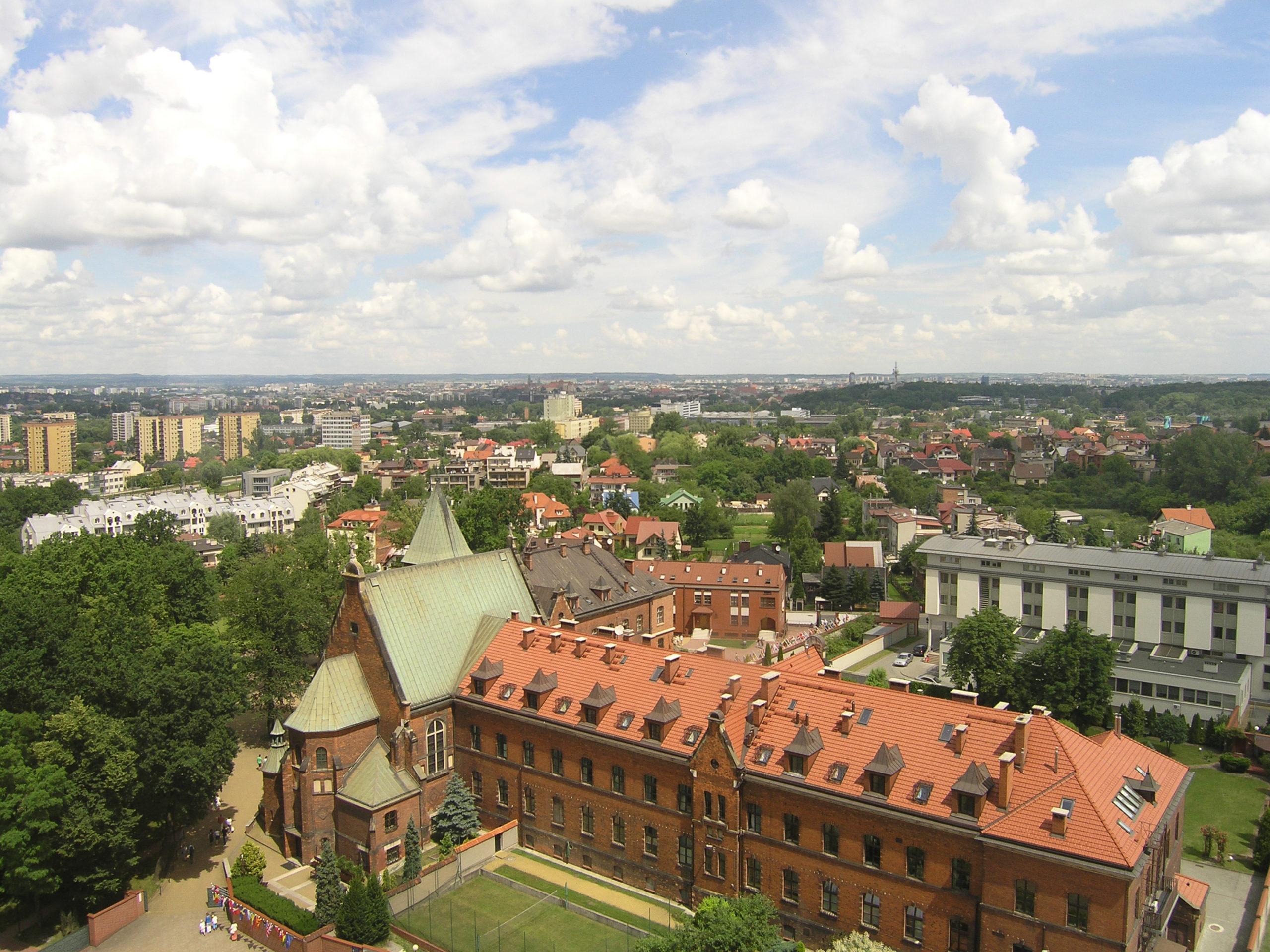 Kraków panorama na miasto