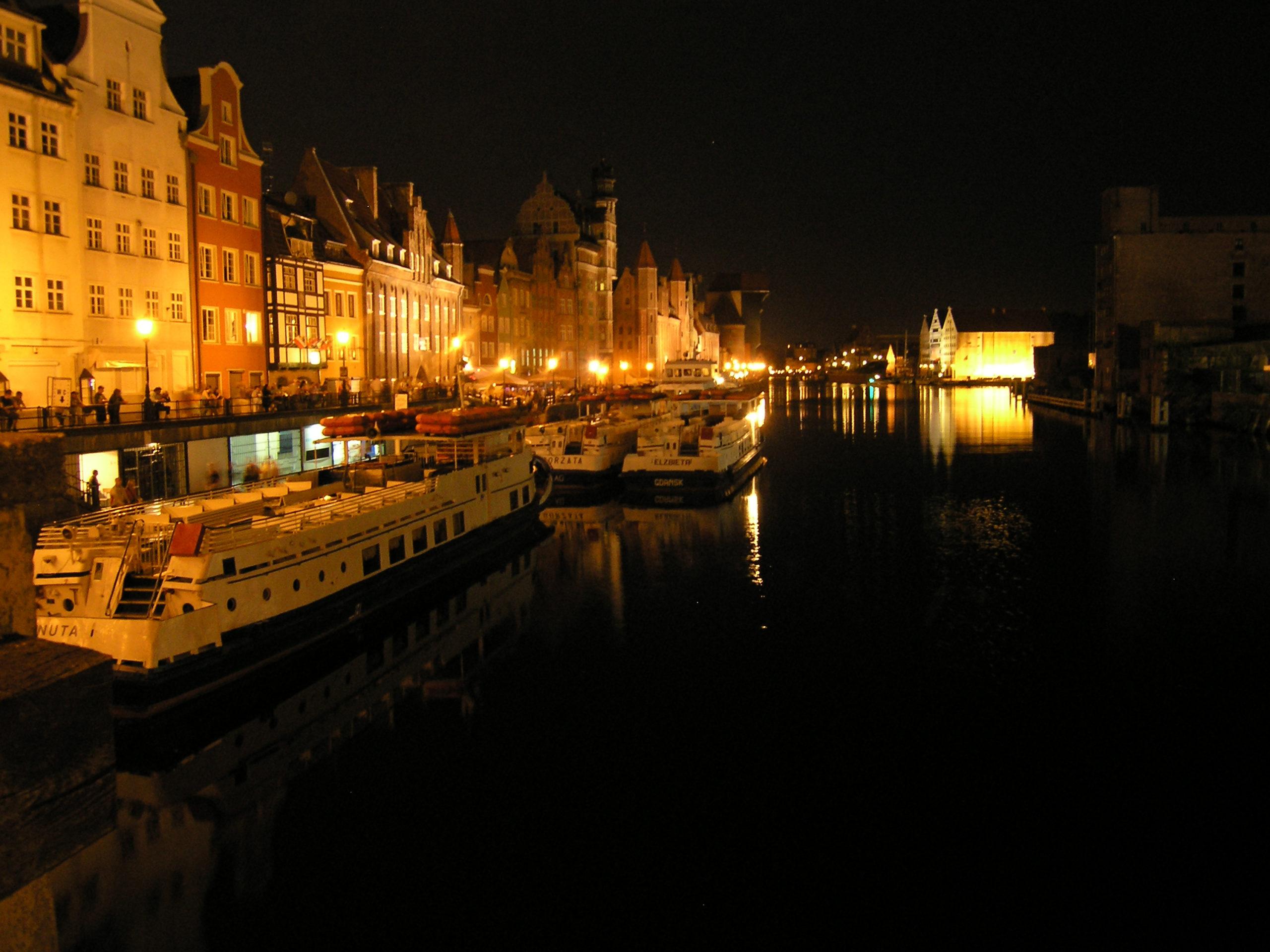 Gdańsk panorama nocą