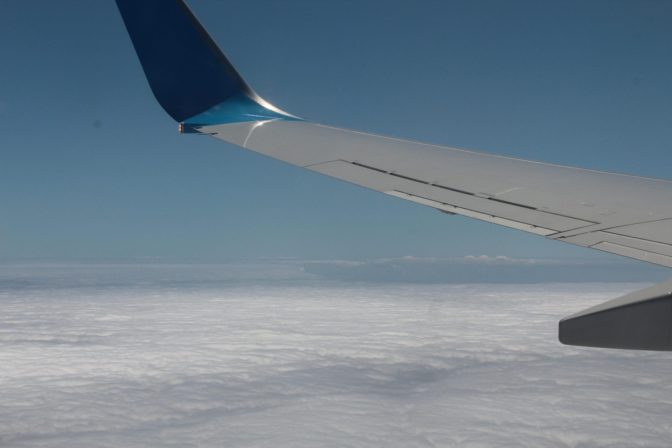 madera widok z okna samolotu