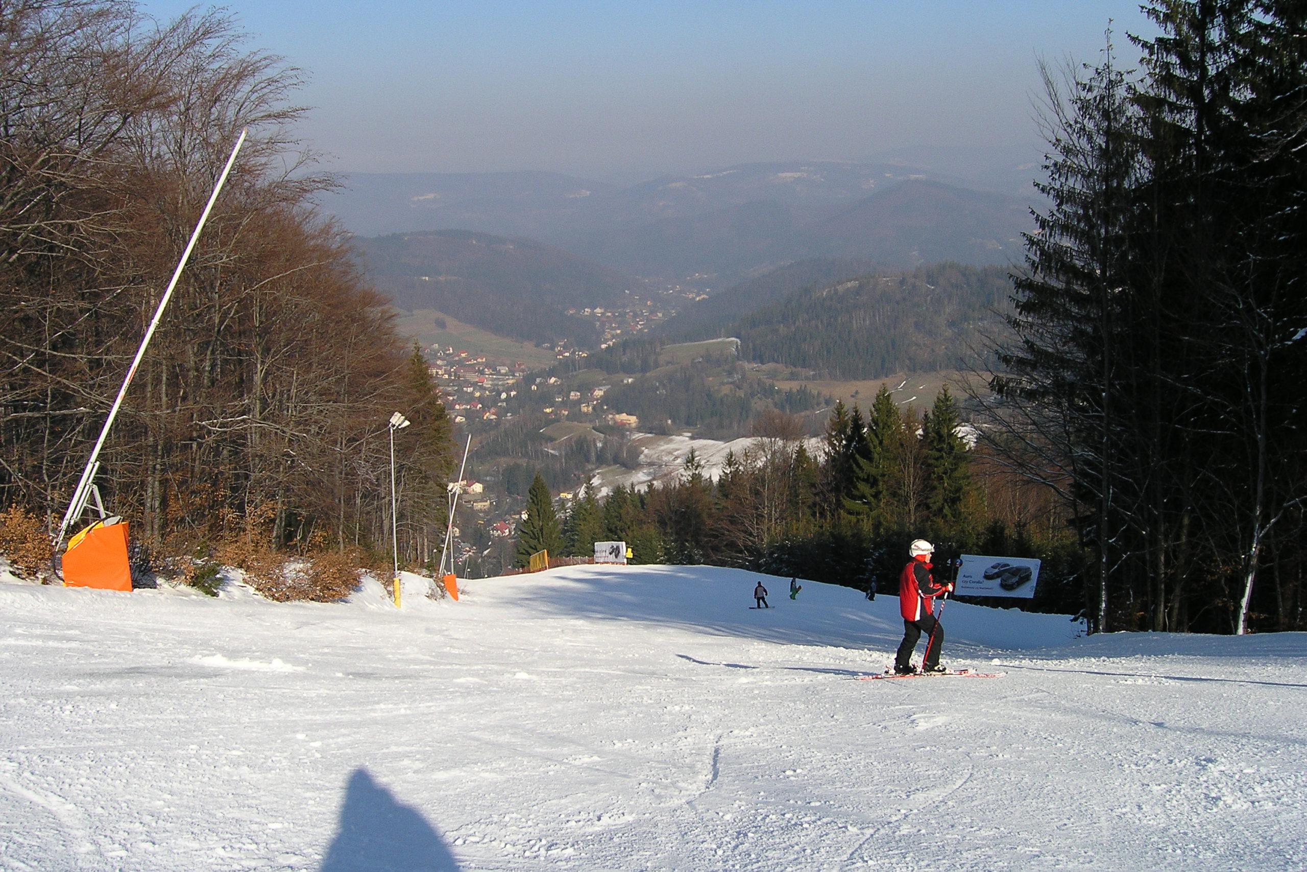 wisła widoj na stok narciarski