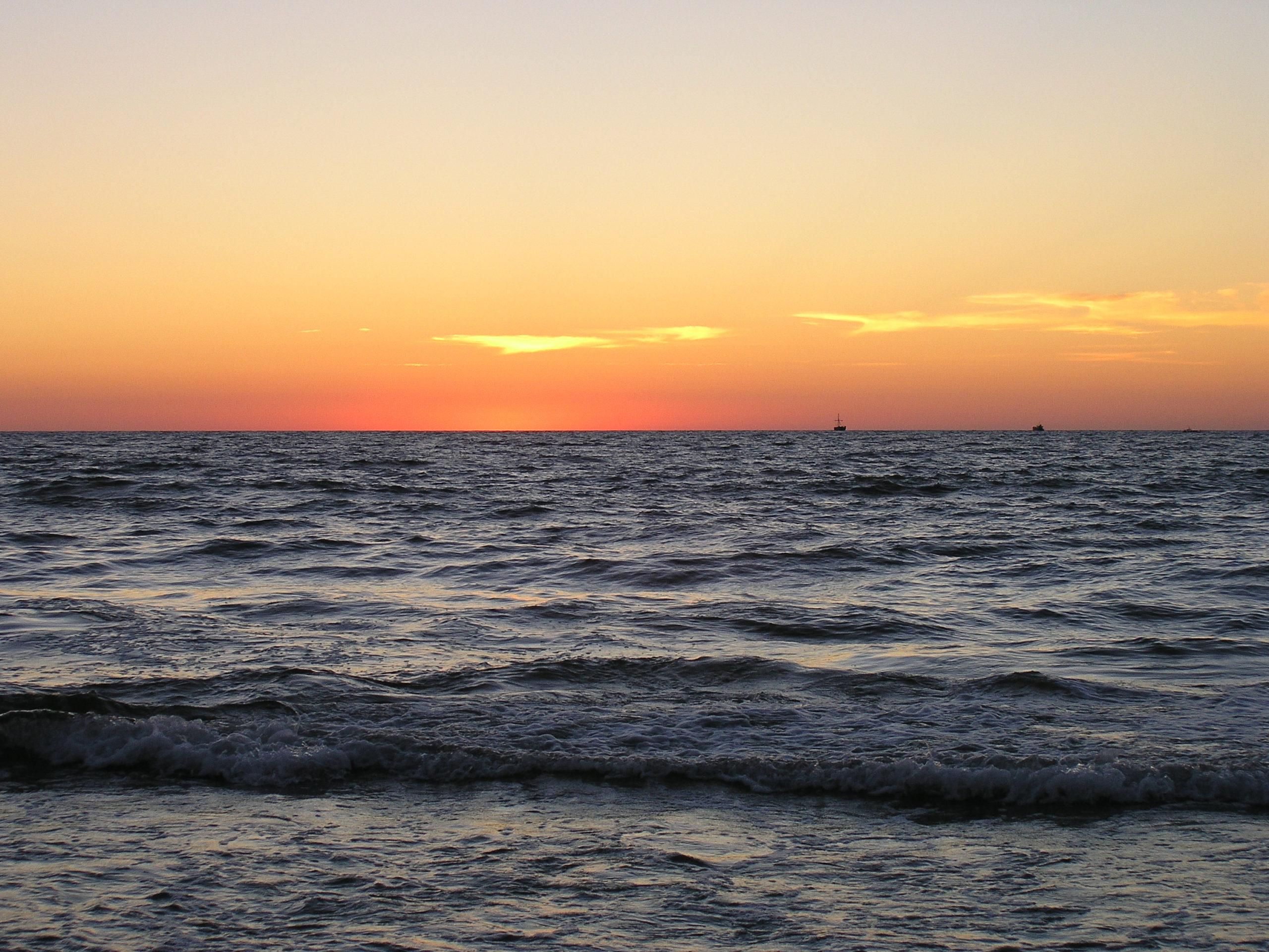 wisełka zachód słońca