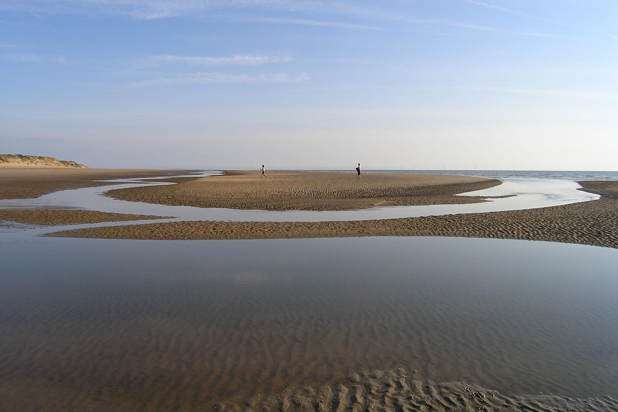 liverpool plaża podczas odpływu