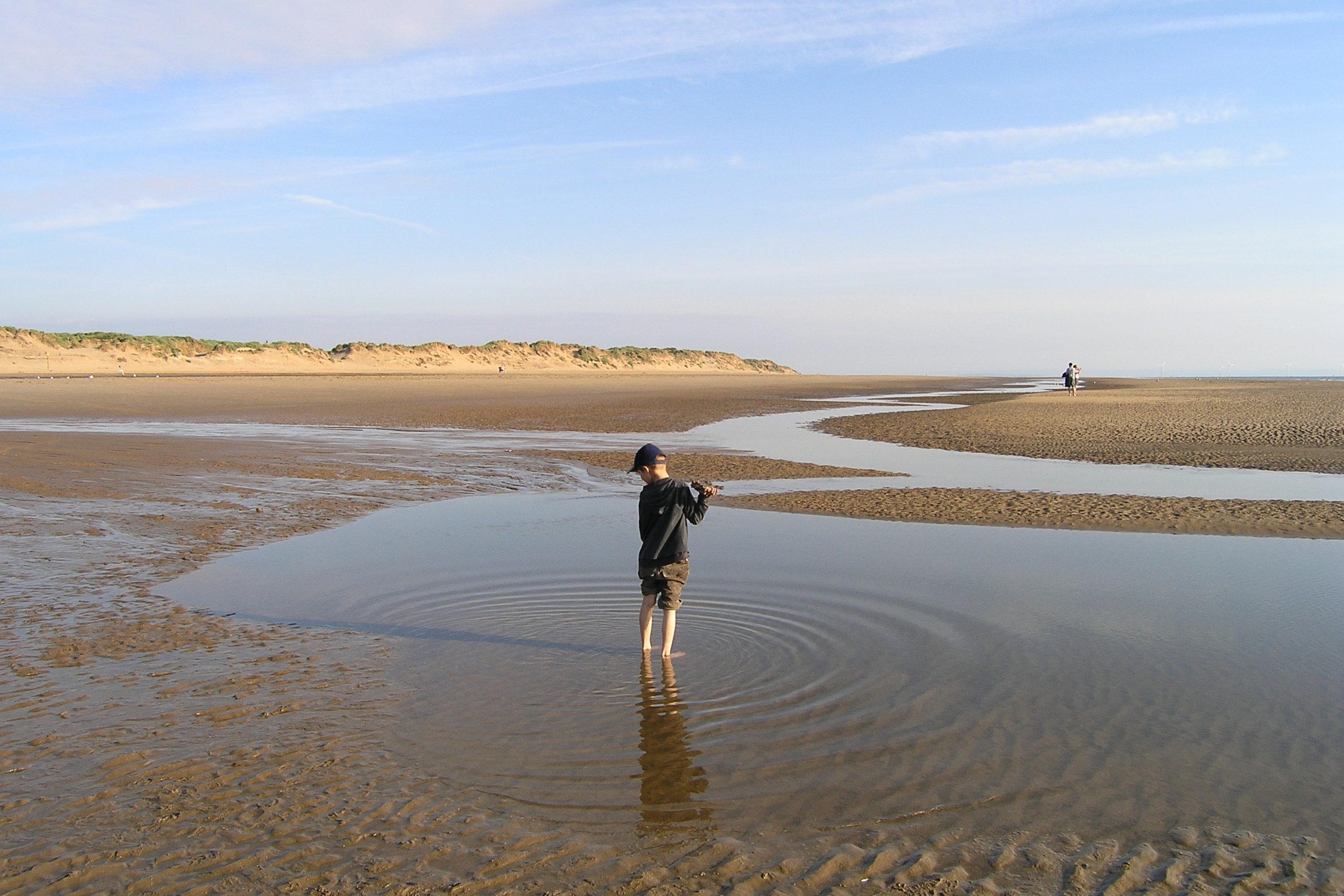 liverpool zabawa na plaży