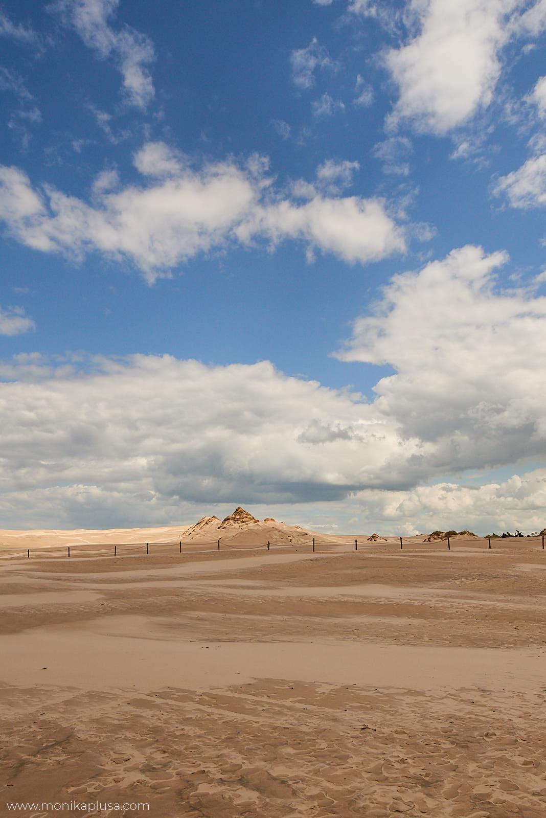 Łeba plaża i niebo
