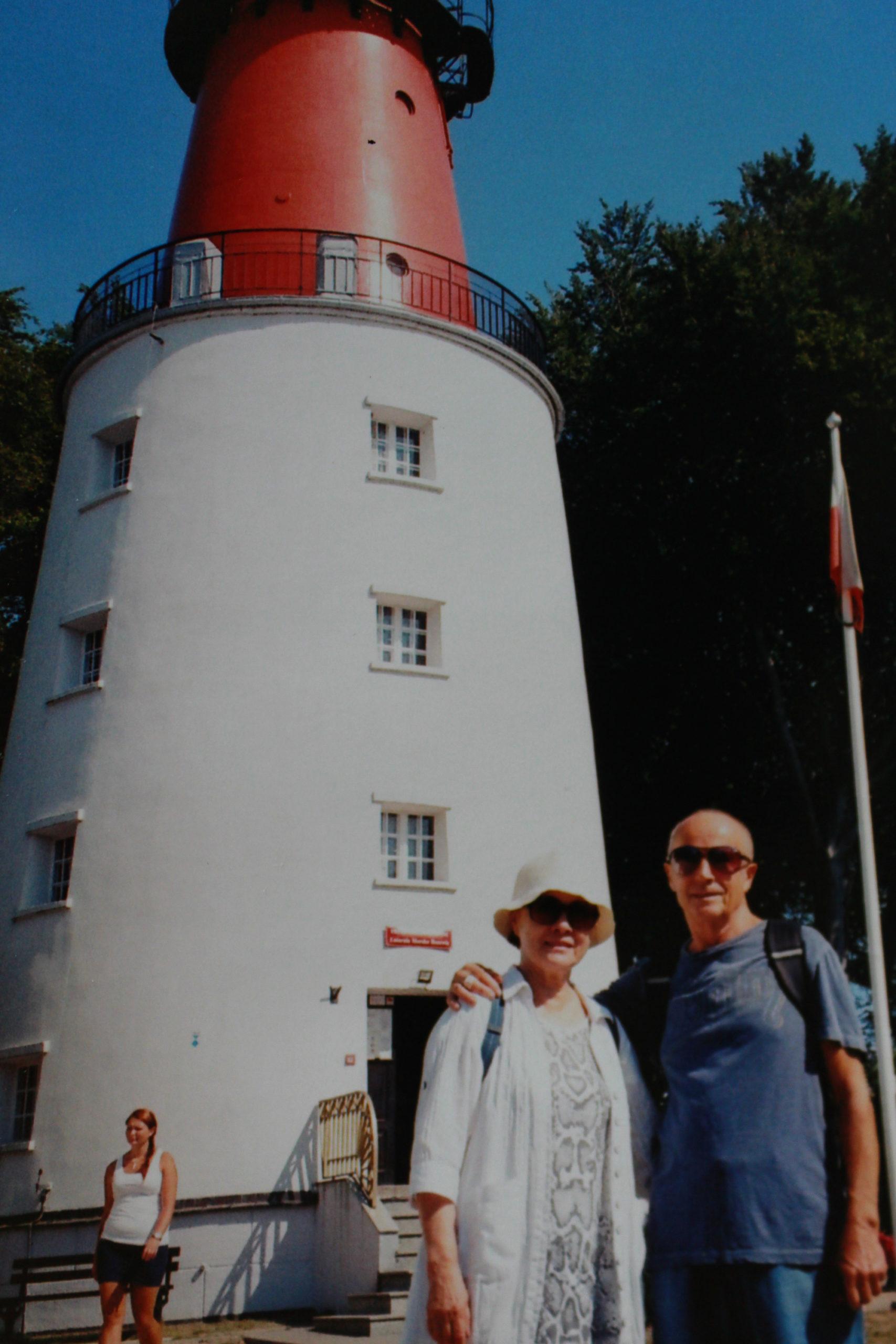 zdjęcia analogowe rodziców, latarnia morska jastrzębia góra