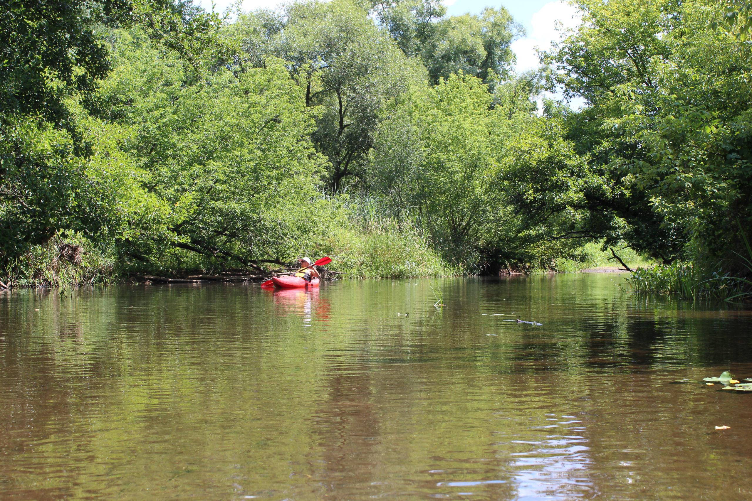 kajak na rzece