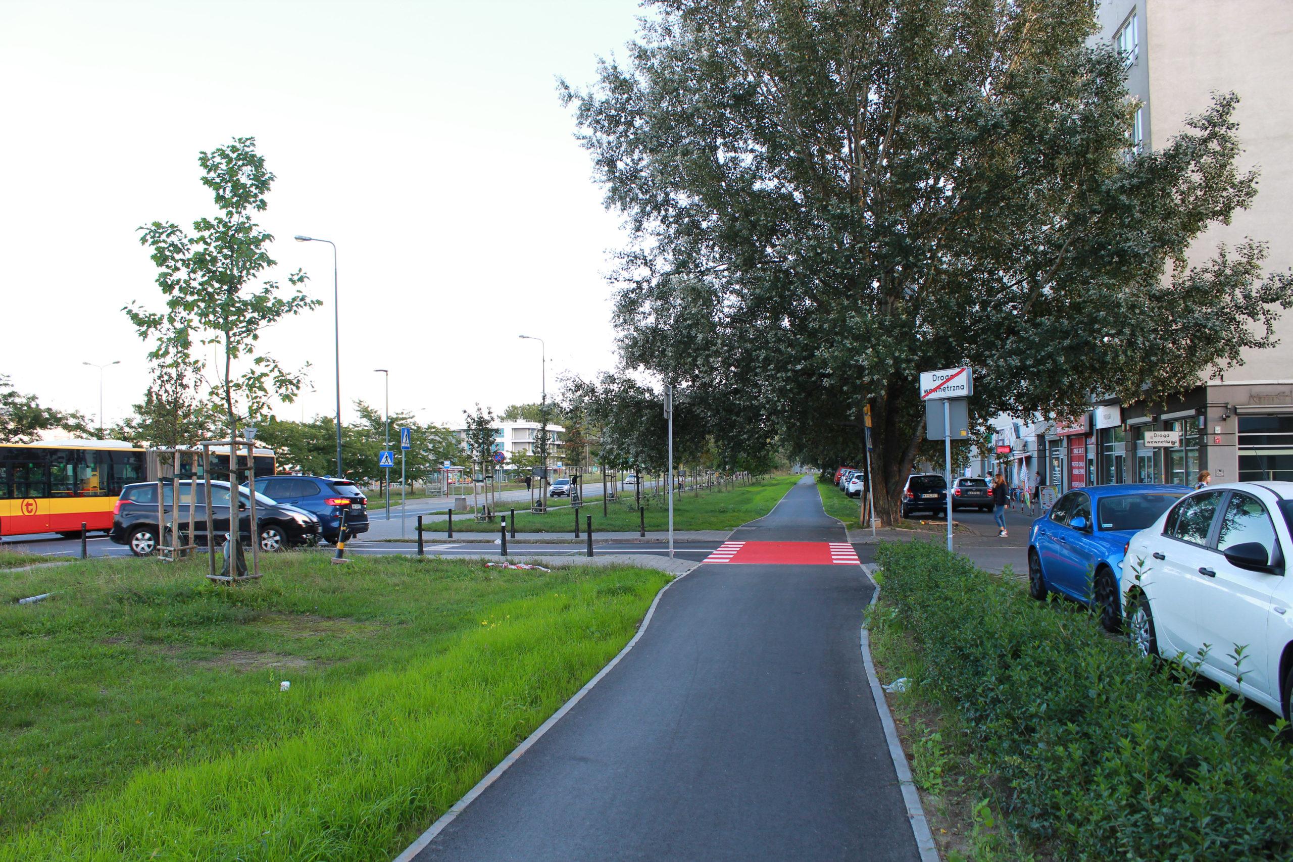 ścieżka rowerowa w mieście