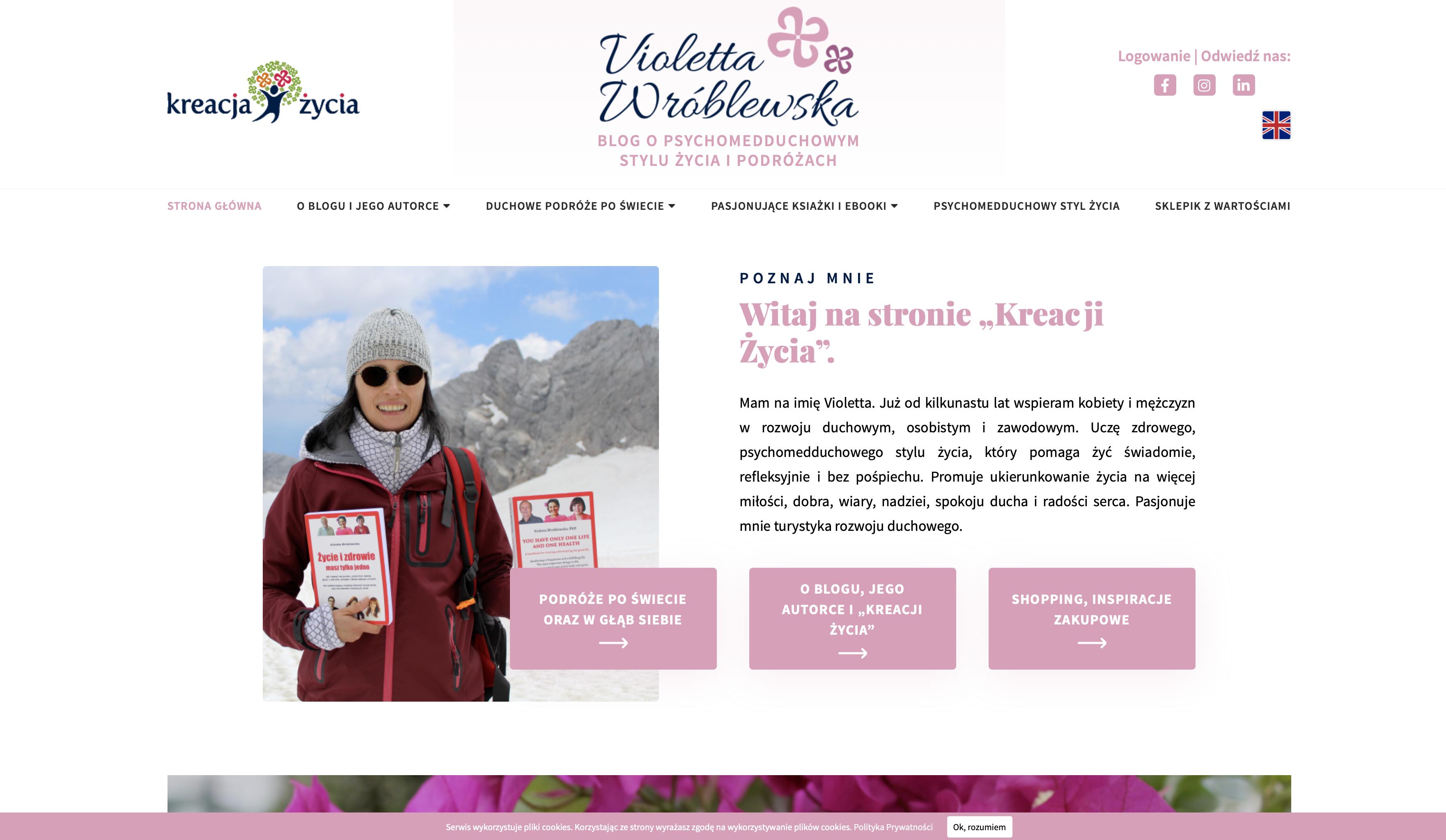 strona internetowa violettawroblewska.com