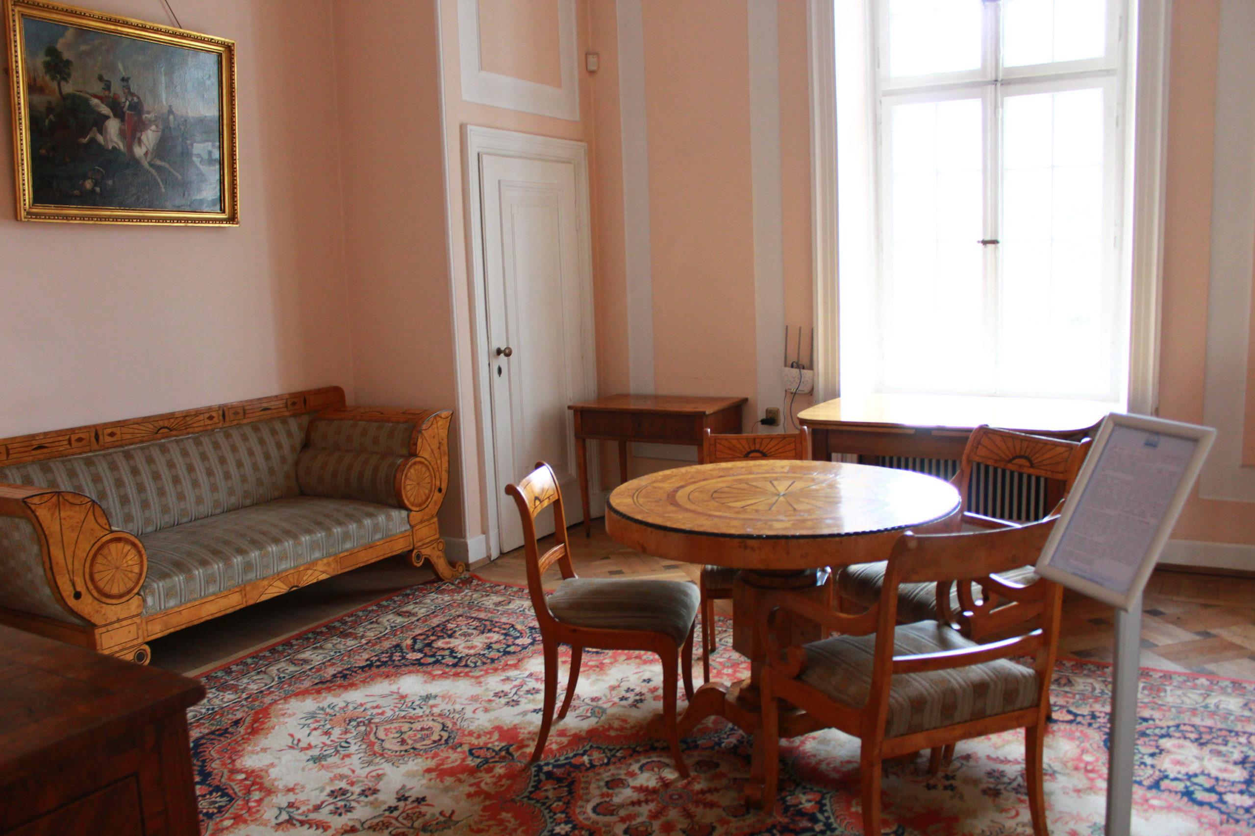 pokój w pałacu w Jabłonnie