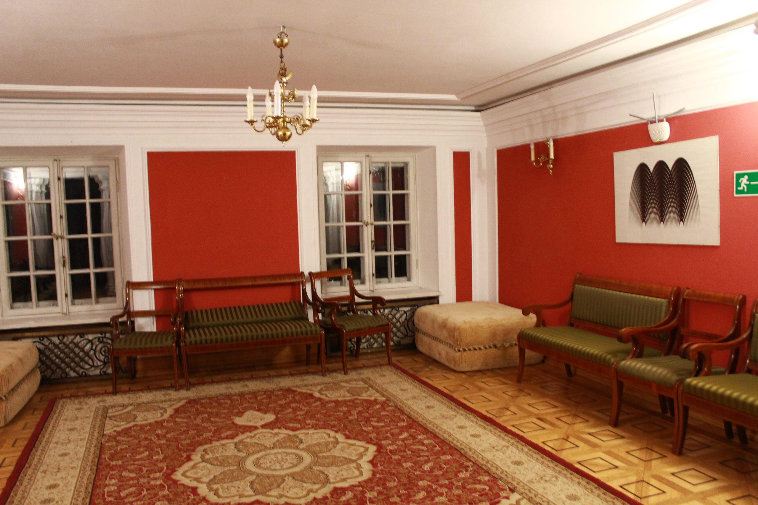 wnętrze pałacu w Jabłonnie