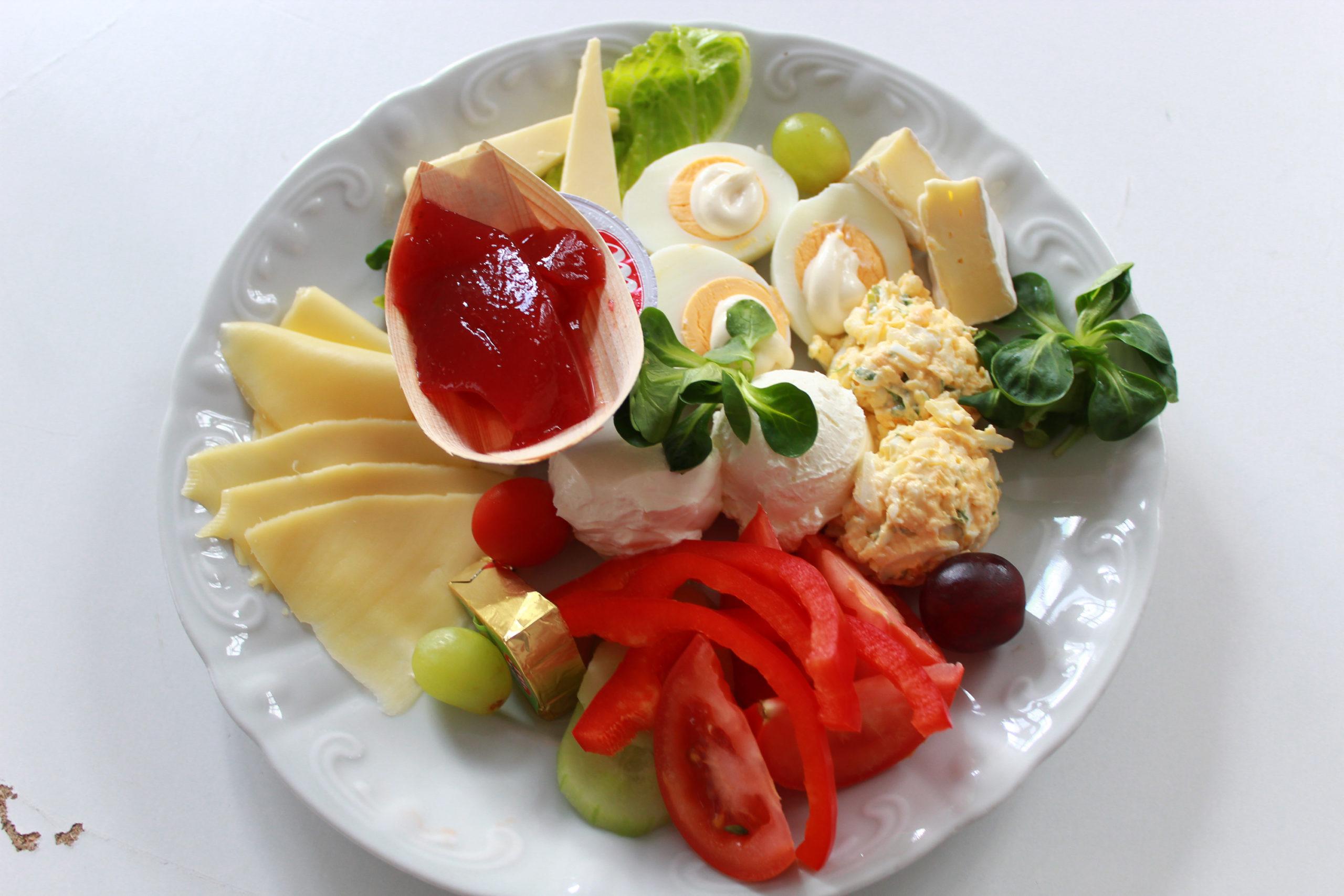 talerz ze śniadaniem